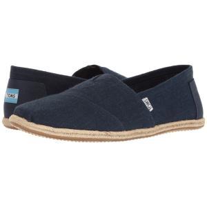 トムズ メンズ ローファー シューズ・靴 Seasonal Classics Navy Linen|fermart-shoes