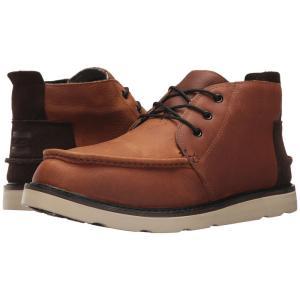 トムズ メンズ ブーツ シューズ・靴 Chukka Boot Waterproof Brown Pull-Up Leather|fermart-shoes
