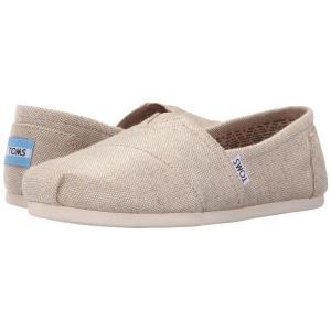 トムズ レディース スリッポン・フラット シューズ・靴 Seasonal Classics Natural Metallic Burlap fermart-shoes