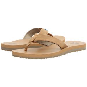 トムズ メンズ ビーチサンダル シューズ・靴 Carilo Flip Flop Toffee Brown|fermart-shoes