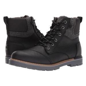 トムズ メンズ ブーツ シューズ・靴 Ashland Boot Black Pull-Up Leather|fermart-shoes