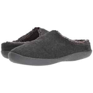 トムズ メンズ スリッパ シューズ・靴 Berkeley Slipper Black Herringbone Woolen|fermart-shoes