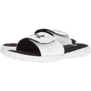 アンダーアーマー メンズ サンダル シューズ・靴 UA Ignite V Slide White/Black fermart-shoes
