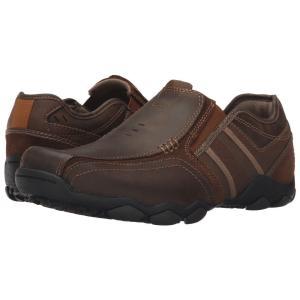 スケッチャーズ SKECHERS メンズ ローファー シューズ・靴 Classic Fit Diameter - Zinroy Dark Brown Leather|fermart-shoes