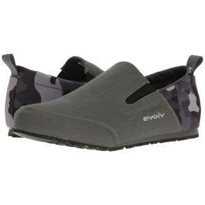 イボルブ メンズ スリッポン・フラット シューズ・靴 Cruzer Slip-On Camo Gray|fermart-shoes