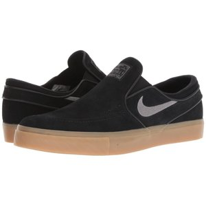 ナイキ Nike SB メンズ スリッポン・フラット シューズ・靴 Zoom Stefan Janoski Slip-on - Suede Black/GunSmoke/Gum Light Brown|fermart-shoes