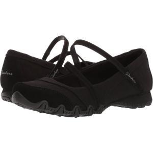 スケッチャーズ レディース スリッポン・フラット シューズ・靴 Bikers - Mary Jane Black|fermart-shoes