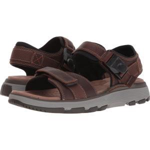 クラークス メンズ サンダル シューズ・靴 UnTrek Part Dark Tan Leather fermart-shoes