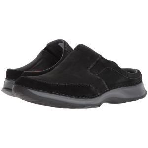 ロックポート メンズ クロッグ シューズ・靴 Rocsports Lite Five Clog Black Leather fermart-shoes