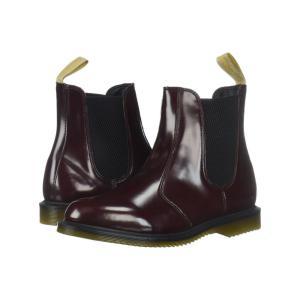 ドクターマーチン レディース ブーツ シューズ・靴 Vegan Flora Cherry Red Cambridge Brush|fermart-shoes