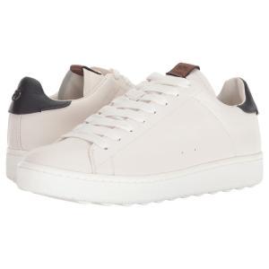 コーチ メンズ スニーカー シューズ・靴 C101 Low Top White/Navy|fermart-shoes