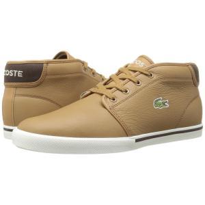 ラコステ メンズ スニーカー シューズ・靴 Ampthill 118 2 Light Brown/Off-White|fermart-shoes