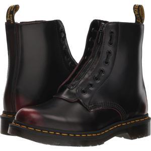 ドクターマーチン Dr. Martens レディース ブーツ シューズ・靴 1460 Pascal Front Zip Cherry Red Arcadia|fermart-shoes