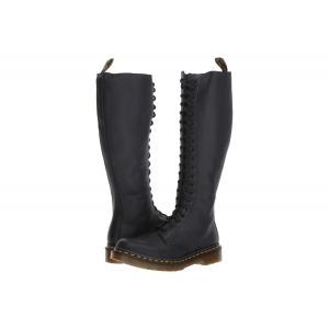 ドクターマーチン Dr. Martens レディース ブーツ シューズ・靴 1B60 20-Eye Zip Boot Black Virginia|fermart-shoes