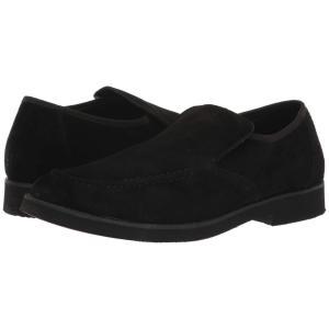 ハッシュパピー Hush Puppies メンズ スリッポン・フラット シューズ・靴 Bracco MT Slip-On Black Suede fermart-shoes