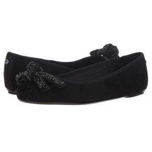 ケイト スペード Kate Spade New York レディース スリッポン・フラット シューズ・靴 Freya Ballet Flat Black Kid Suede|fermart-shoes