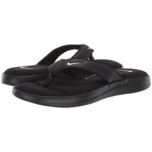 ナイキ Nike レディース ビーチサンダル シューズ・靴 Ultra Comfort 3 Black/White|fermart-shoes