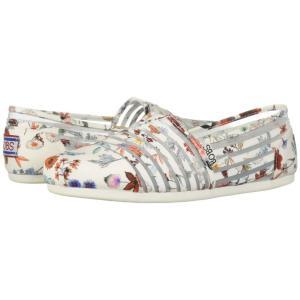 スケッチャーズ BOBS from SKECHERS レディース スリッポン・フラット シューズ・靴 Bobs Plush - Daisy Darling White/Multi|fermart-shoes