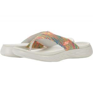 スケッチャーズ SKECHERS Performance レディース ビーチサンダル シューズ・靴 On-The-Go 600 Multi Knit 3 Point Sandal Natural|fermart-shoes