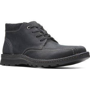 クラークス Clarks メンズ ブーツ シューズ・靴 Vanek Mid Ankle Boot Black Leather|fermart-shoes