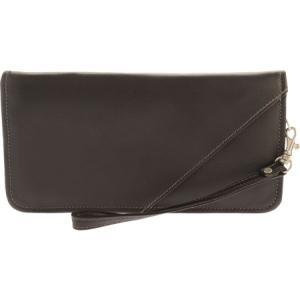 ピエルレザー メンズ 財布 Executive Travel Wallet 2874 Chocolate Leather|fermart-shoes