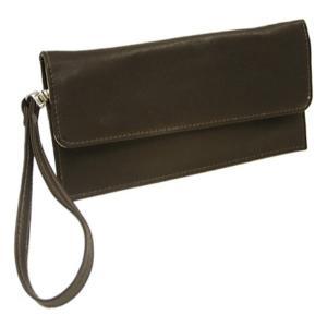ピエルレザー メンズ 財布 Travel Wallet 2855 Chocolate Leather|fermart-shoes