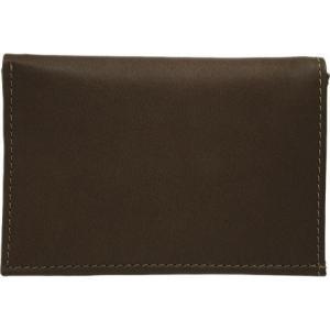 ピエルレザー メンズ 財布 Large Tri-Fold Wallet 2682 Chocolate Leather|fermart-shoes