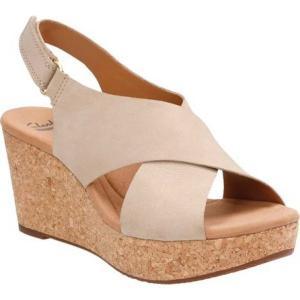 クラークス レディース サンダル・ミュール シューズ・靴 Annadel Eirwyn Slingback Wedge Sandal Sand Nubuck|fermart-shoes
