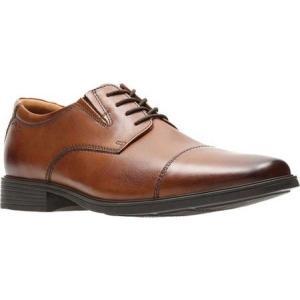 クラークス メンズ 革靴・ビジネスシューズ シューズ・靴 Tilden Cap Toe Oxford Dark Tan Leather|fermart-shoes