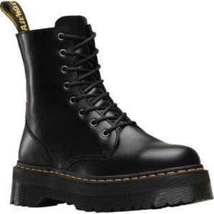 ドクターマーチン Dr. Martens レディース シューズ・靴 ブーツ Jadon 8-Eye Boot Black Polished Smooth|fermart-shoes