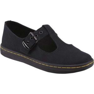 ドクターマーチン レディース シューズ・靴 Woolwich T-Bar Black Canvas|fermart-shoes