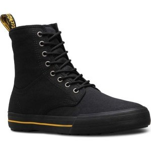 ドクターマーチン メンズ レインシューズ・長靴 シューズ・靴 Winsted 8-Eye Boot Black Canvas fermart-shoes