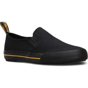 ドクターマーチン Dr. Martens メンズ スリッポン・フラット シューズ・靴 Toomey Slip On Sneaker Black Canvas|fermart-shoes