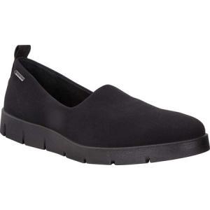 エコー レディース スリッポン・フラット シューズ・靴 Bella GORE-TEX Slip On Black/Black Leather/Textile|fermart-shoes