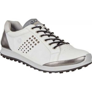 エコー メンズ シューズ・靴 ゴルフ BIOM Hybrid Tie Hydromax Golf Shoe White/Black Leather|fermart-shoes