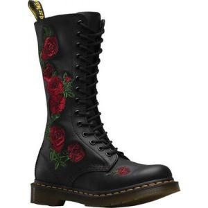 ドクターマーチン レディース ブーツ シューズ・靴 Embroidery Vonda 14 Eye Boot Black Softy T fermart-shoes
