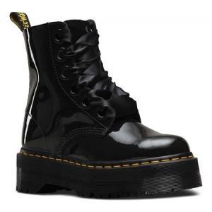 ドクターマーチン レディース ブーツ シューズ・靴 Molly Lolita Boot Black Patent Lamper|fermart-shoes