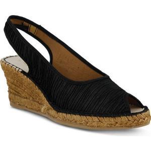 アズラ Azura レディース シューズ・靴 エスパドリーユ Jeanette Black Textile|fermart-shoes