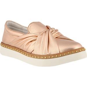 アズラ レディース スリッポン・フラット シューズ・靴 Thatsarap Slip On Sneaker Champagne Leather|fermart-shoes