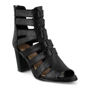 アズラ Azura レディース シューズ・靴 サンダル Quidam Gladiator Sandal Black Synthetic|fermart-shoes