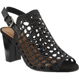 アズラ レディース サンダル・ミュール シューズ・靴 Stacy Caged Sandal Black Synthetic|fermart-shoes