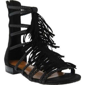 アズラ レディース サンダル・ミュール シューズ・靴 Dashuri Gladiator Sandal Black Synthetic|fermart-shoes