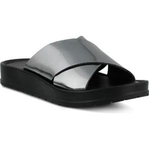 アズラ Azura レディース シューズ・靴 サンダル Zyna Wedge Slide Sandal Pewter Synthetic|fermart-shoes