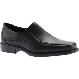 エコー メンズ 革靴・ビジネスシューズ シューズ・靴 New Jersey Slip On Black Santiago|fermart-shoes