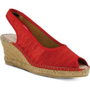アズラ レディース シューズ・靴 Jeanette Red Textile|fermart-shoes