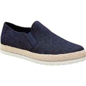 ティンバーランド レディース スリッポン・フラット シューズ・靴 Eivissa Sea Slip-On Navy Canvas|fermart-shoes
