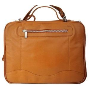 ピエルレザー メンズ タブレットケース Laptop/Tablet Case 3122 Saddle|fermart-shoes