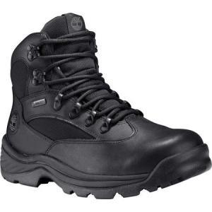 ティンバーランド メンズ シューズ・靴 ハイキング・登山 Chocura Trail Mid GORE-TEX Black Oiled Waterproof Leather|fermart-shoes