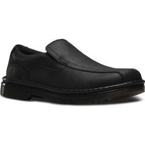 ドクターマーチン メンズ スリッポン・フラット シューズ・靴 Norfolk Slip On Shoe Black Bear Track|fermart-shoes
