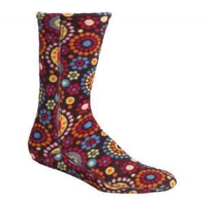 エーコーン レディース ソックス インナー・下着 Versa Fit Socks Chocolate Dots Fleece|fermart-shoes